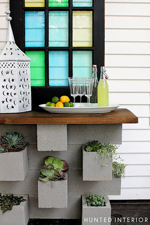 Small Backyard Design small backyard ideas small backyards patio design ideas for small Use Cinder Blocks To Create A Small Table Or Bar For Your Outdoor Space And Use The Holes In The Blocks For Planting Its A 2 In 1 Deal