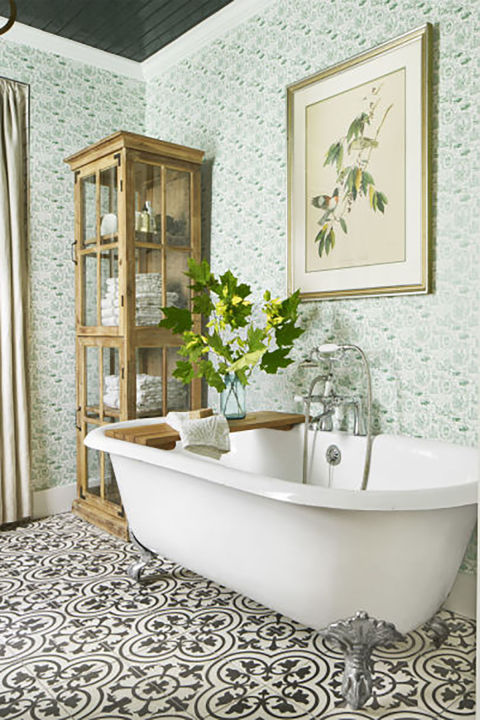 mix patterns - Bathroom Ideas Country Style