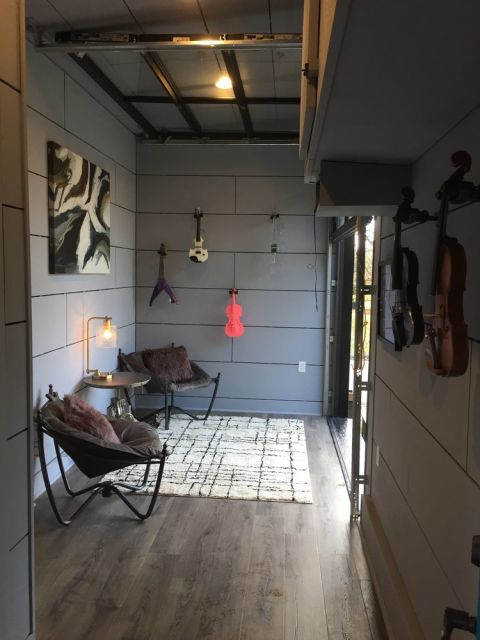 This super cool tiny house is actually a working amp that for Amplified tiny house