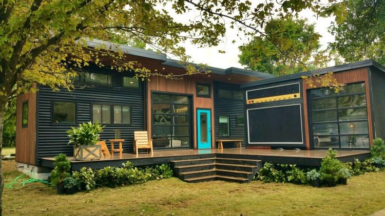 this super cool tiny house is actually a working amp that can be taken on the road this tiny. Black Bedroom Furniture Sets. Home Design Ideas