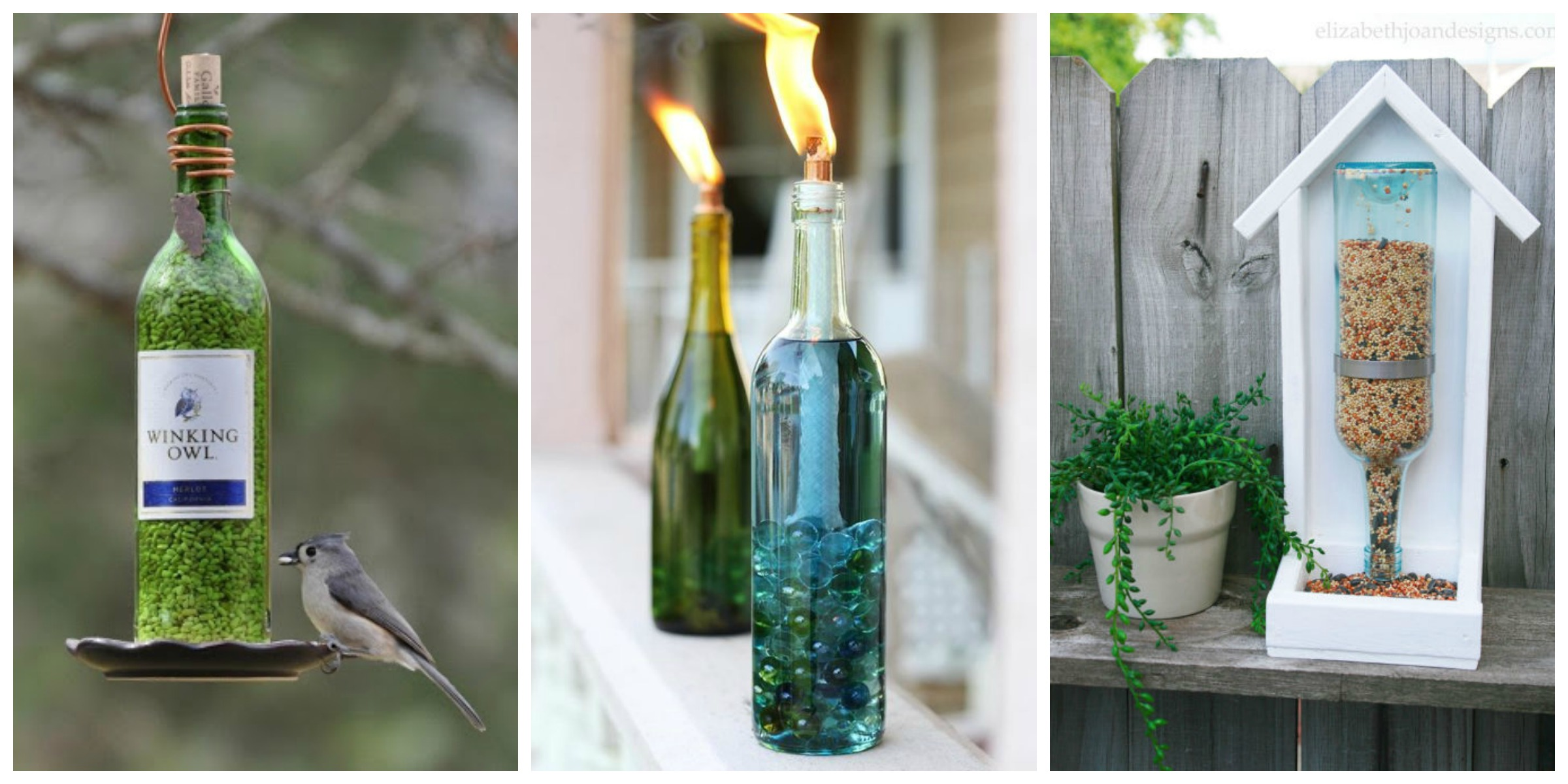 Wine bottle garden crafts how to use recycled bottles in for How to use wine bottles in the garden