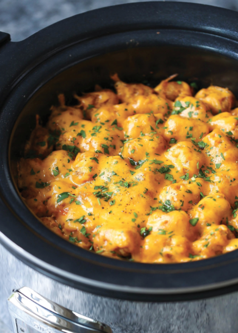 With tots loaded with cheese and ground beef, this recipe will surely make your whole family happy. Get the recipe at Damn Delicious.  Tools you'll need:$21, Crock-Pot 7-Quart Stainless Steel,amazon.com