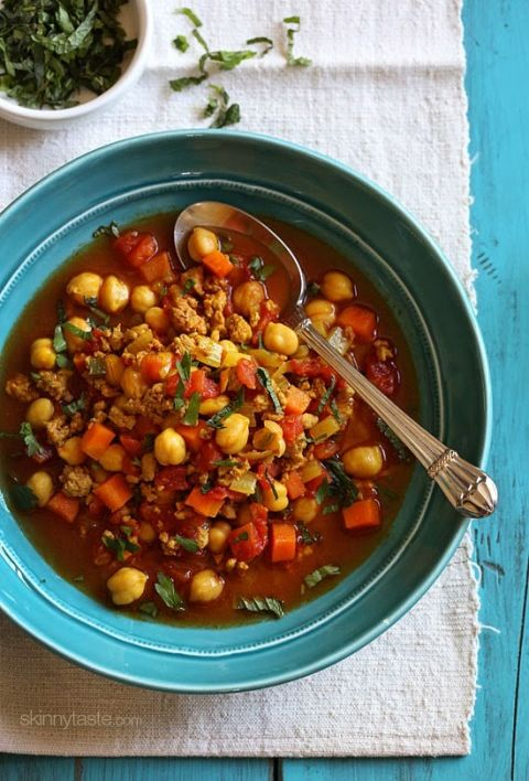 If you want a cozy night in, whip up this delicious Moroccan stew. (You can even use what's left over for lunch for the rest of the week.)