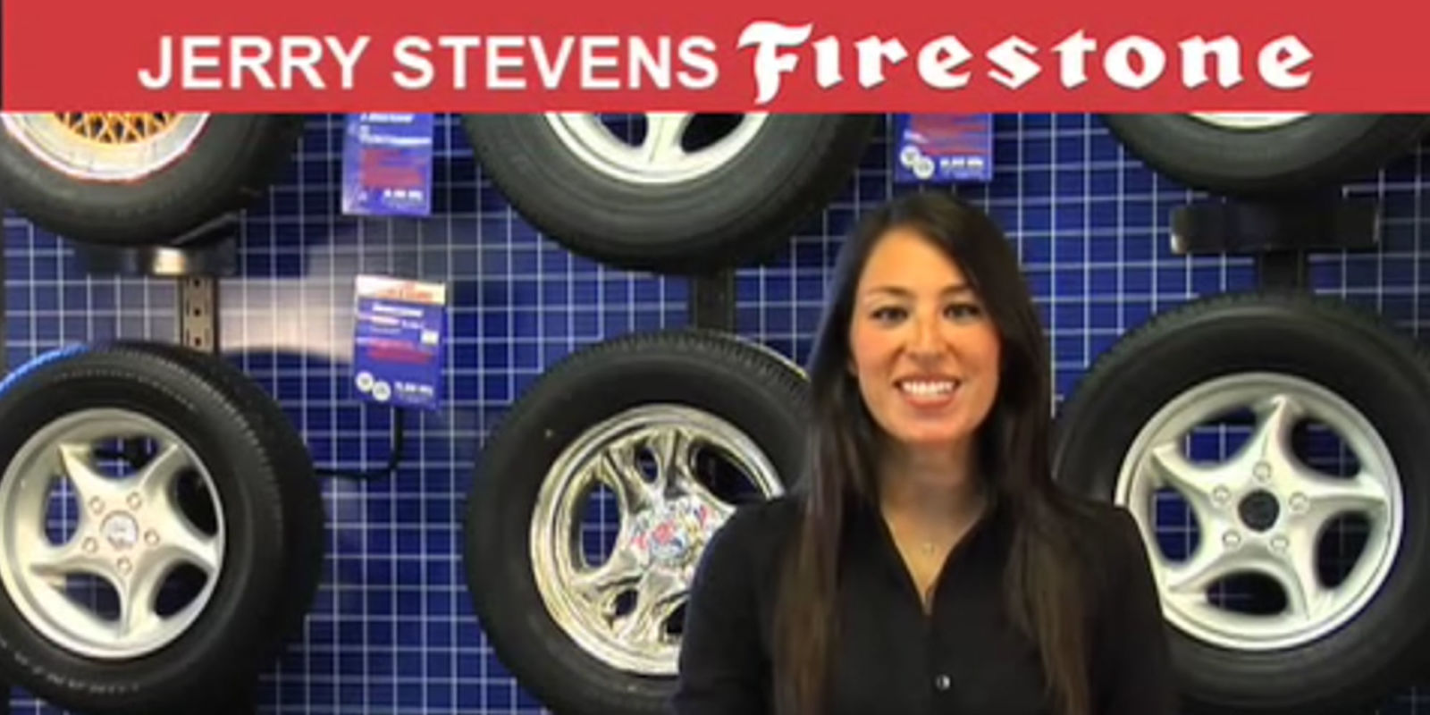 Watch joanna gaines in her firestone tire shop commercial for Joanna gaines firestone commercial