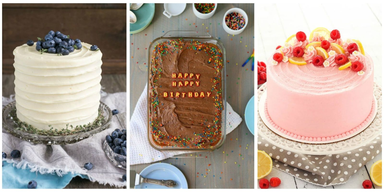 Cake Decorating Homemade : 22 Homemade Birthday Cake Ideas - Easy Recipes for ...