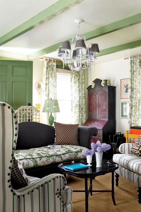 Green Drawing Room: 40+ Ideas For Green Rooms And Home