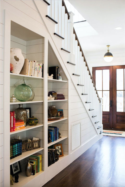 Under stairs organization