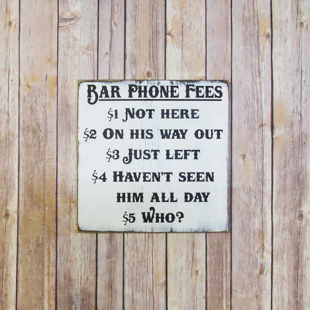 20 bar signs with funny quotes for serving porch drinks