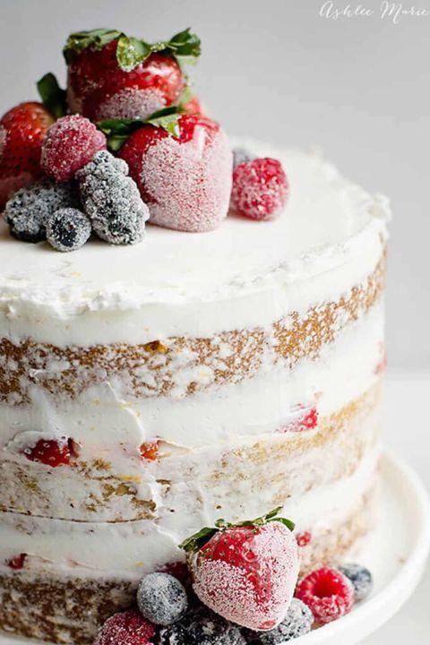 Chocolate Cake And Berries