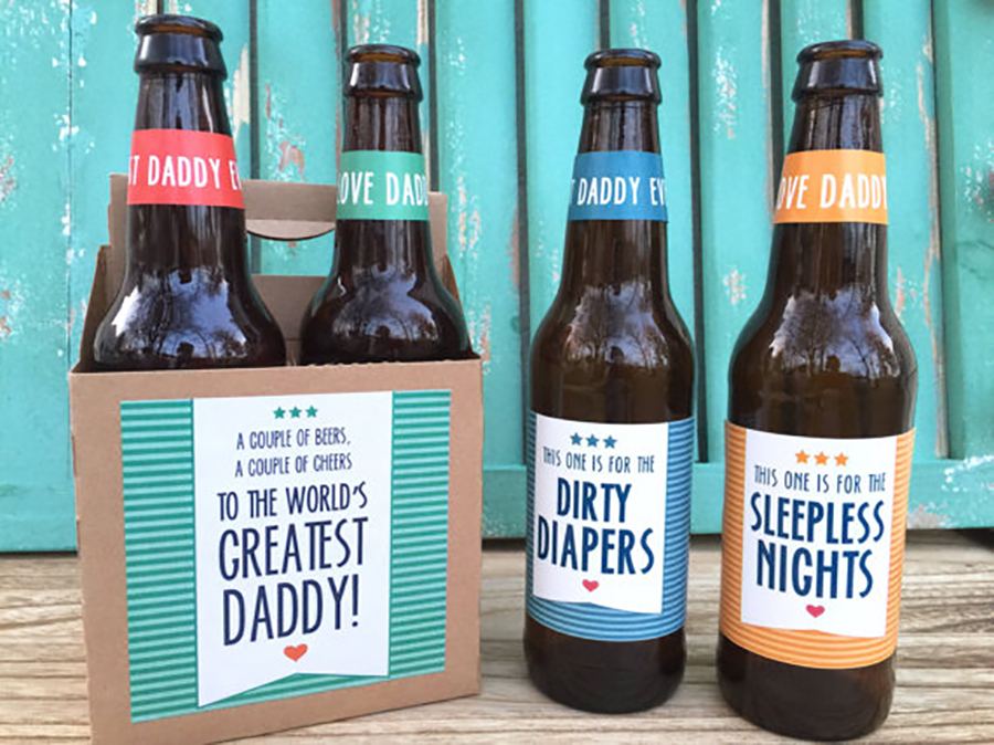 Gift Ideas For First Fathers Day Part - 18: Beer Labels