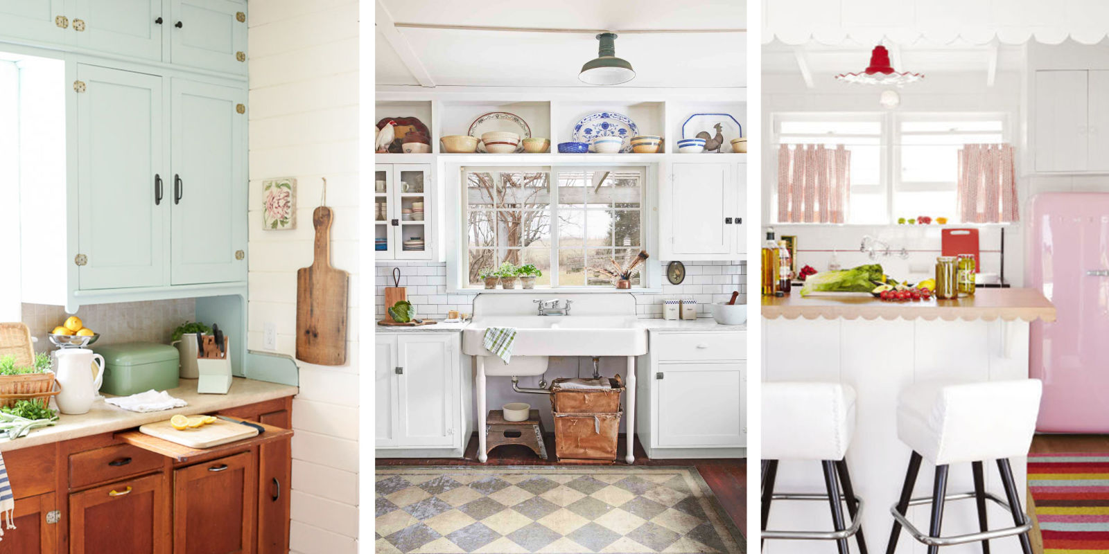 20 vintage kitchen decorating ideas design inspiration for Vintage kitchen designs photos