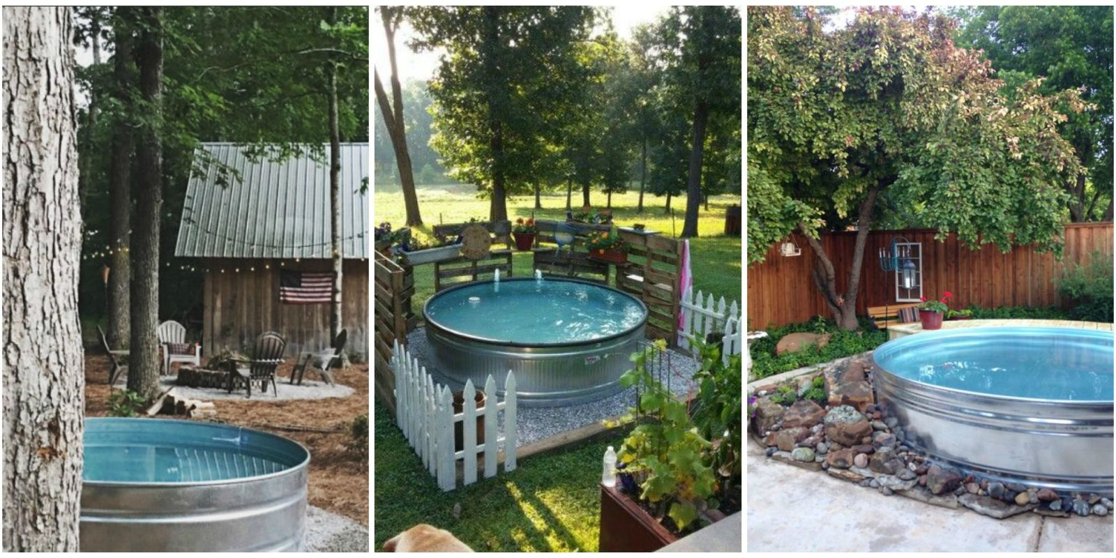 Stock tank swimming pool ideas how to make a pool from a for Uses for old swimming pools