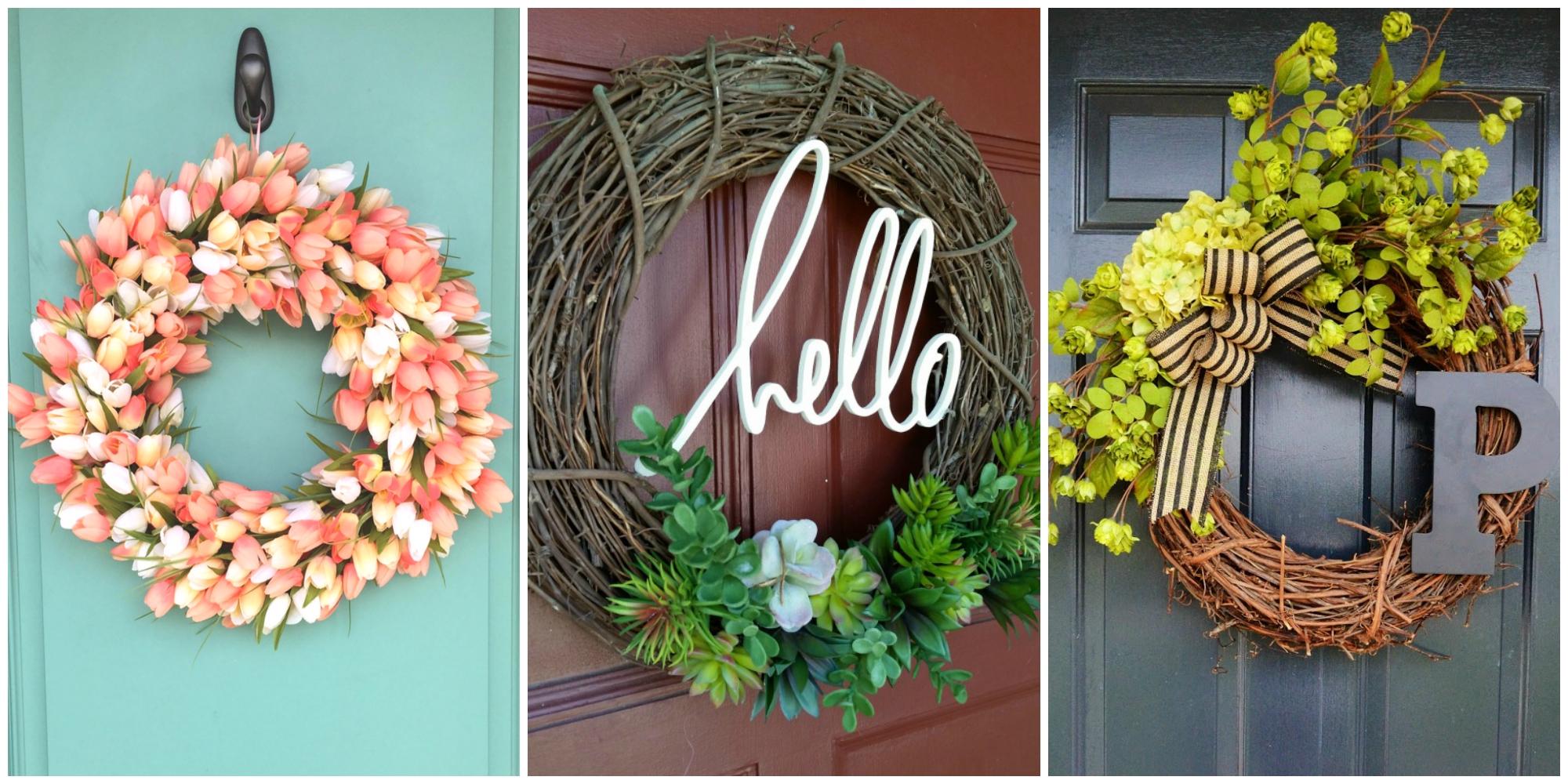 10 diy summer wreath ideas outdoor front door wreaths for Diy summer wreath