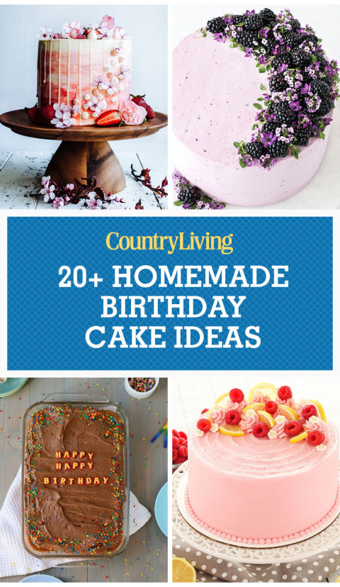 22 Homemade Birthday Cake Ideas Easy Recipes For