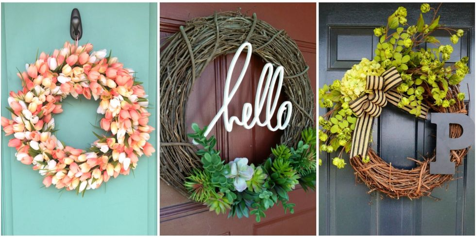 10 Photos  sc 1 st  Country Living Magazine & 10 DIY Summer Wreath Ideas - Outdoor Front Door Wreaths for Summer pezcame.com