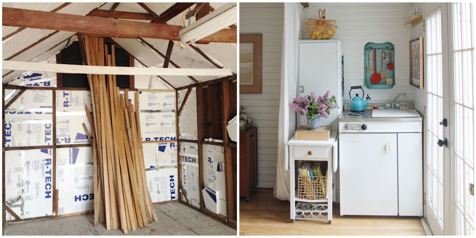 This couple turned their grandma 39 s garage into the cutest tiny house - The tiny house in the garage ...