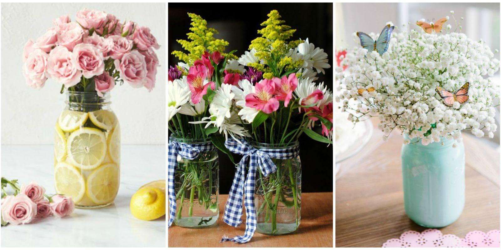 Images Of Flower Arrangements 13 pretty mason jar flower arrangements - best floral centerpieces