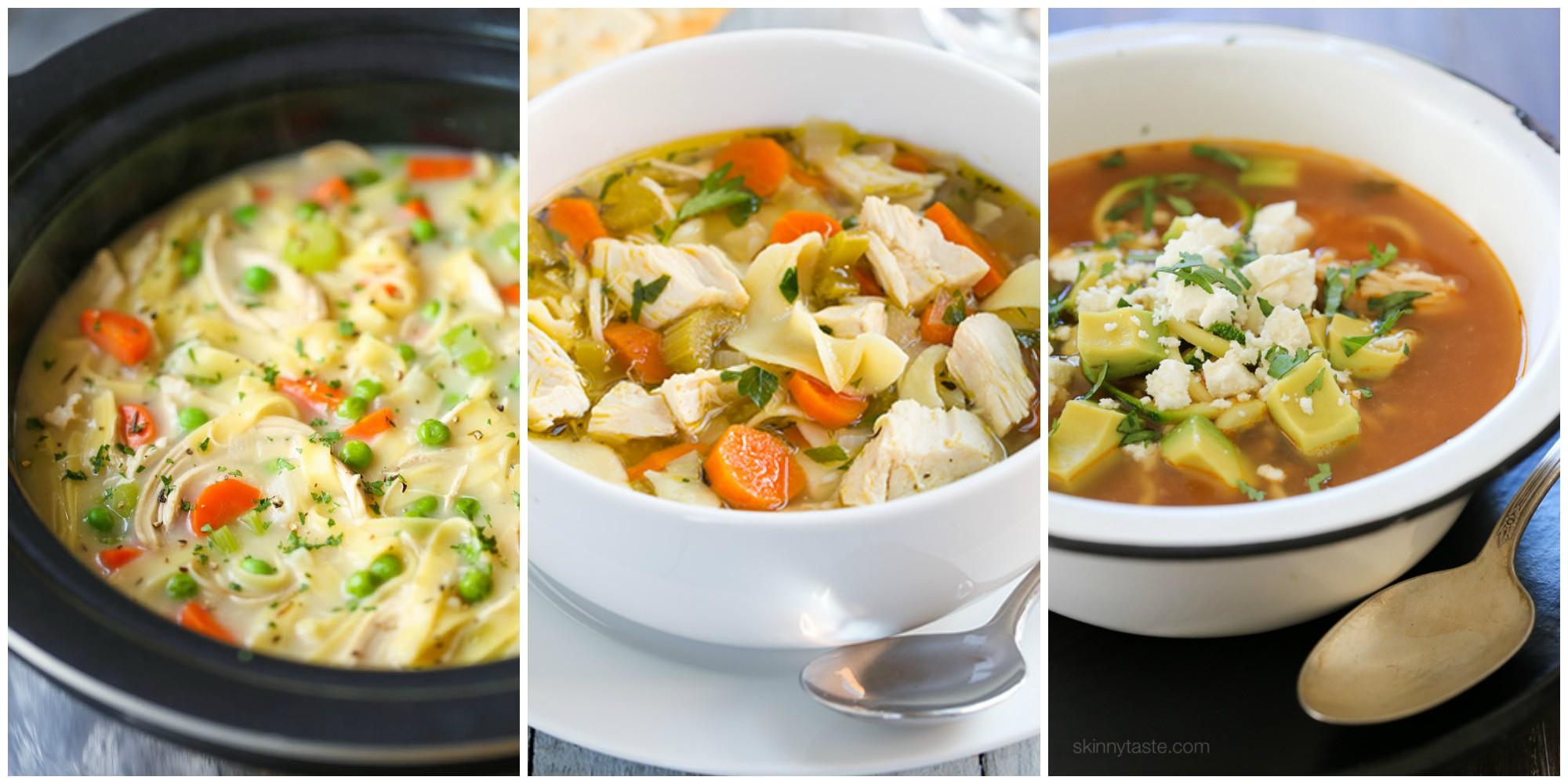 11 easy crock pot chicken noodle soup recipes  best slow