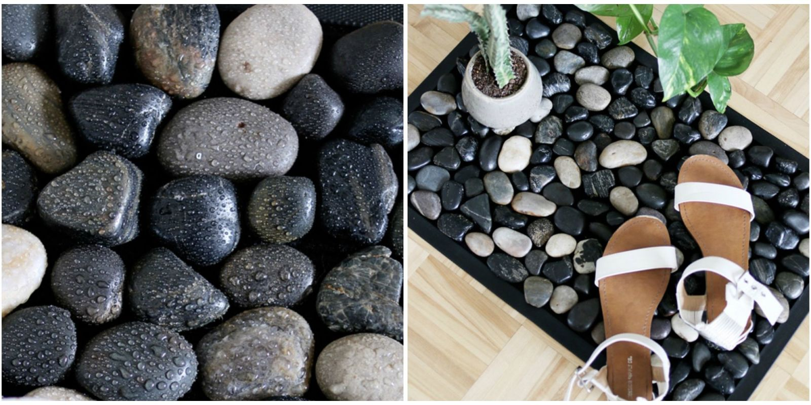 How To Make A River Stone Bath Mat For Your Shower Easy