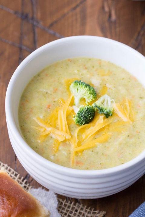 Healthier Broccoli Cheese Soup