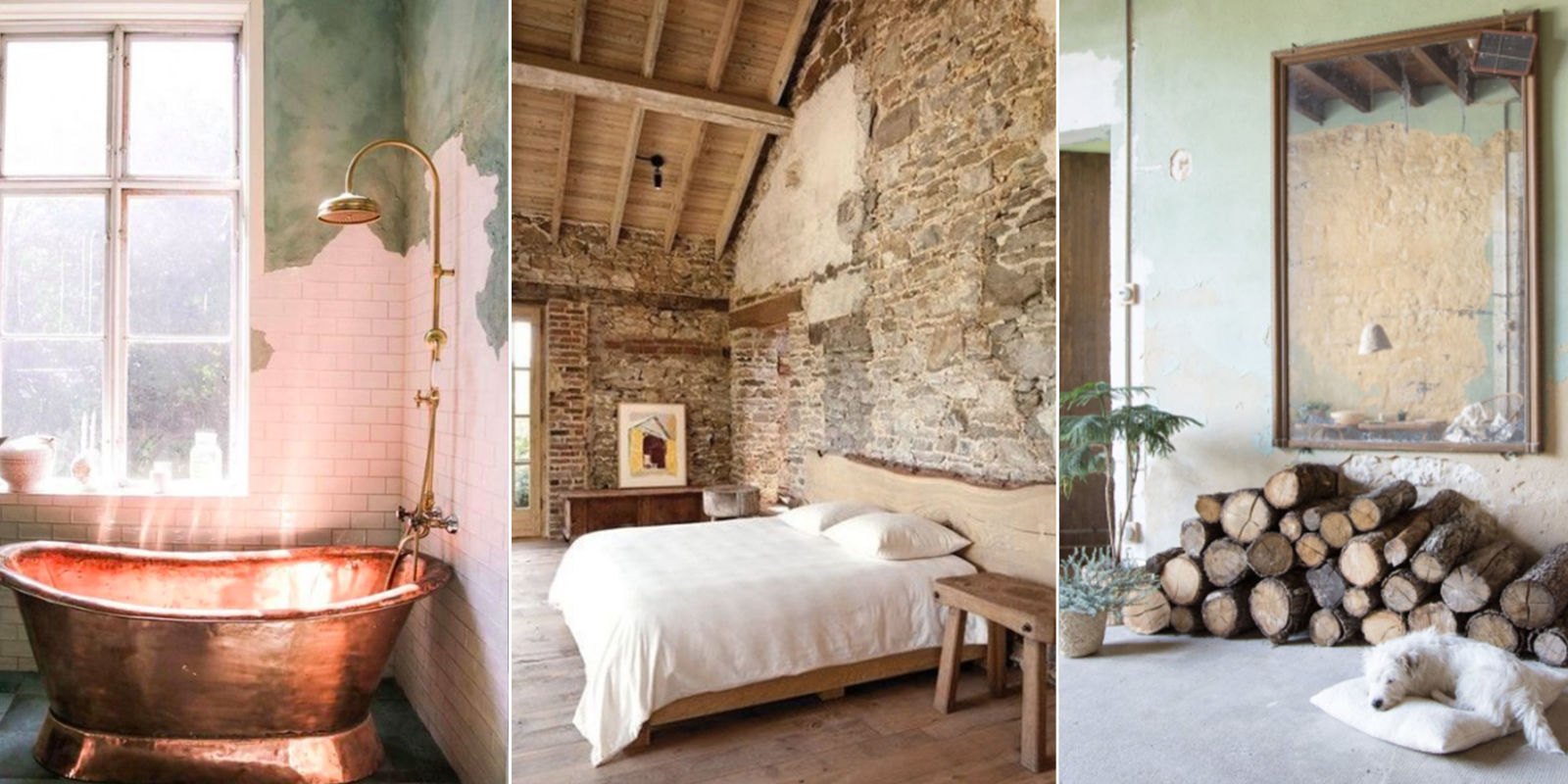 17 Rooms With Rustic Unfinished Walls This Raw Wall