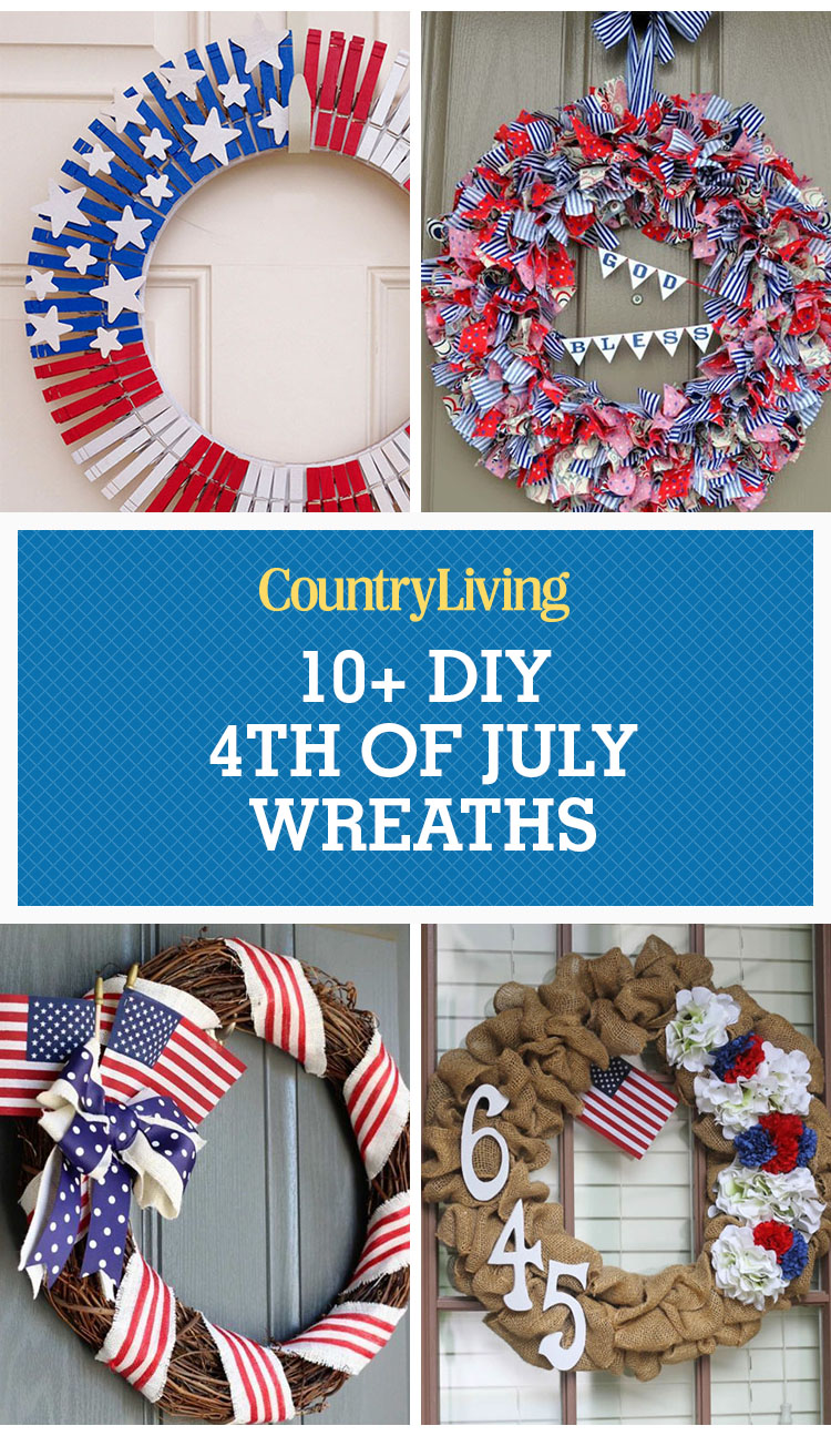 11 Easy Diy 4th Of July Wreaths How To Make A Fourth Of
