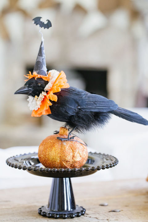 These creepy crows will add a haunted feel to your house this Halloween.