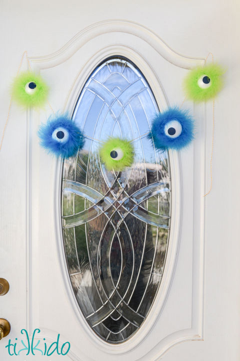 This friendly, furry monster craft will welcome all of the neighborhood kids to your house this Halloween! 