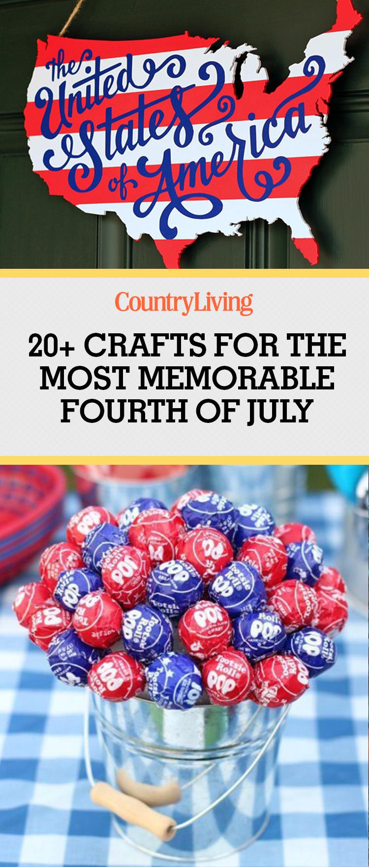 26 Easy 4th of July Crafts - Patriotic Craft Ideas & DIY ...