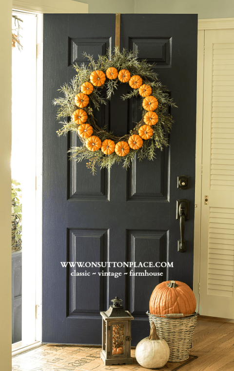 wreaths for front doors39 DIY Fall Wreaths  Ideas for Autumn Wreath Crafts