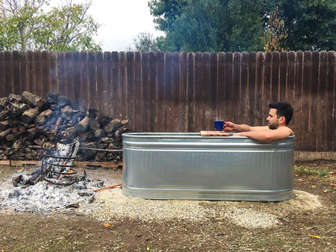 Stock Tank Hot Tub Diy Wood Fired Backyard Hot Tub