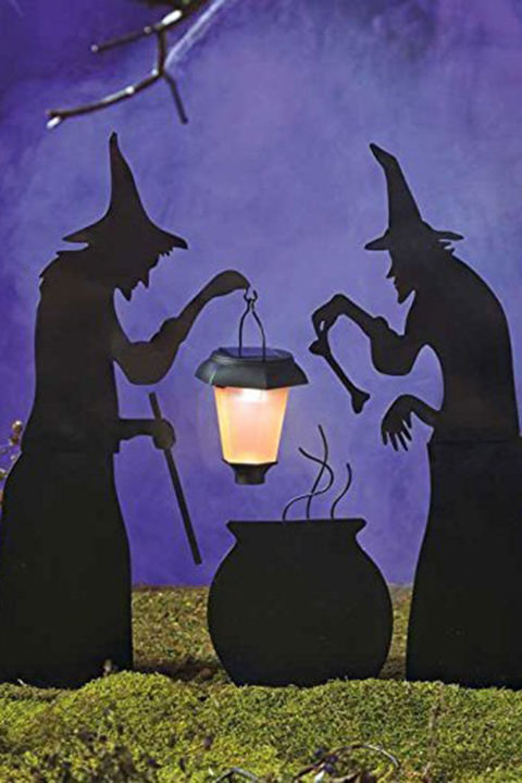 witches and cauldron yard silhouette