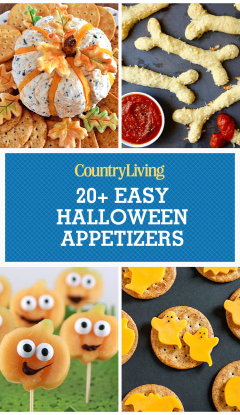 pin this image - Easy Halloween Appetizer Recipes With Pictures