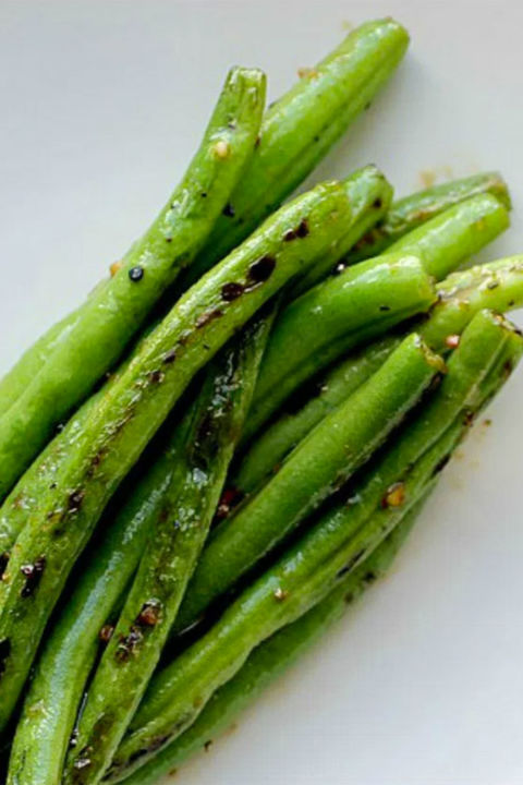 Green Beans with Orange Beurre Blanc