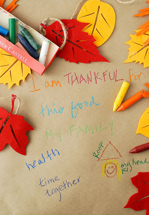 Start a new tradition by asking everyone to write what they are thankful foron a DIY butcher-paper tablecloth. Get the tutorial at Boulder Locavore. What you'll need: butcher paper roll ($18,amazon.com)