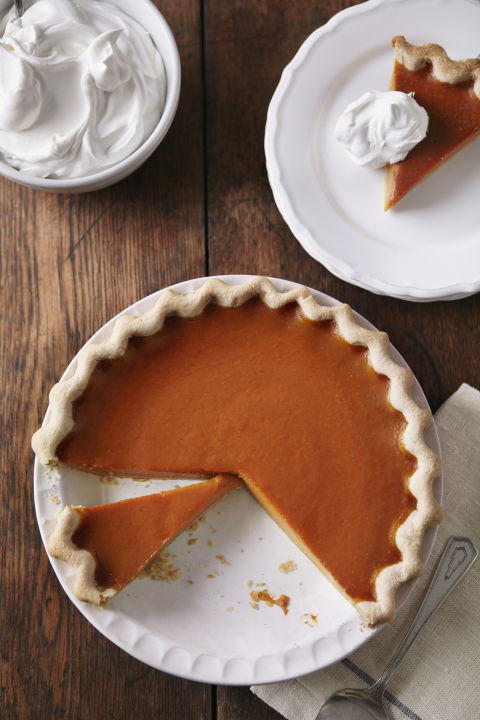 Really, we would be happy withanytype of pie, but pumpkin pie just screams Thanksgiving. What you'll need: Pyrex glass pie plate (9, amazon.com)