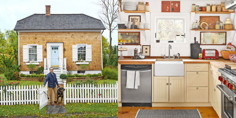 theres a good reason this adorable cottage was built off center - Tour Of The Hamptons