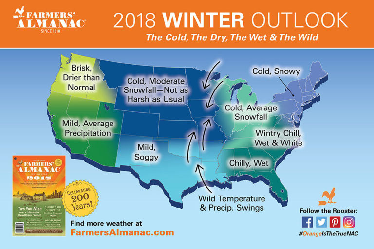 Farmers Almanac Winter  Predictions - Political map 2018 us house