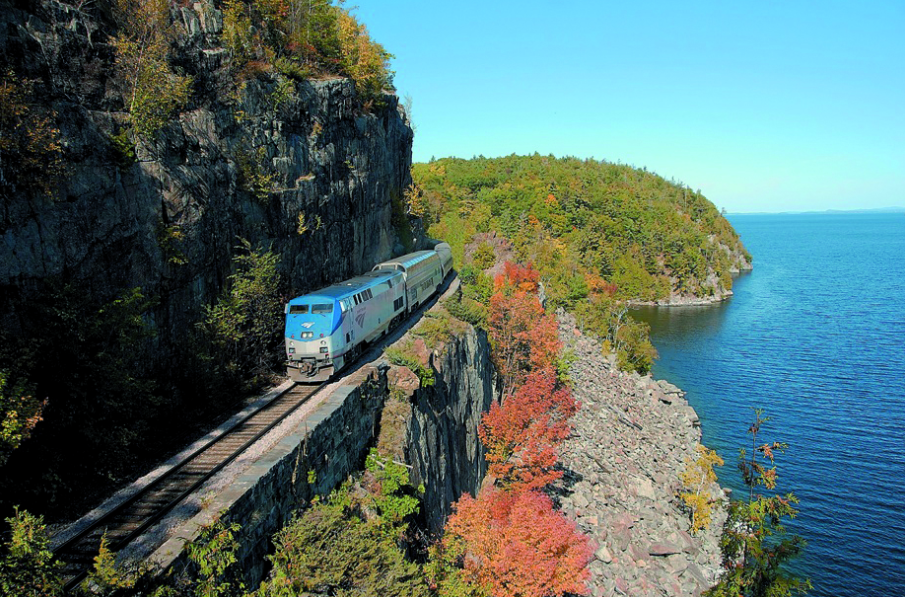 Amtrak Great Dome Train Ride Scenic Adirondack Train Rides - Amtrak us map vacations scenic