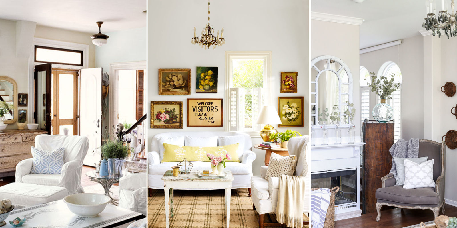 10 Shabby-Chic Living Room Ideas