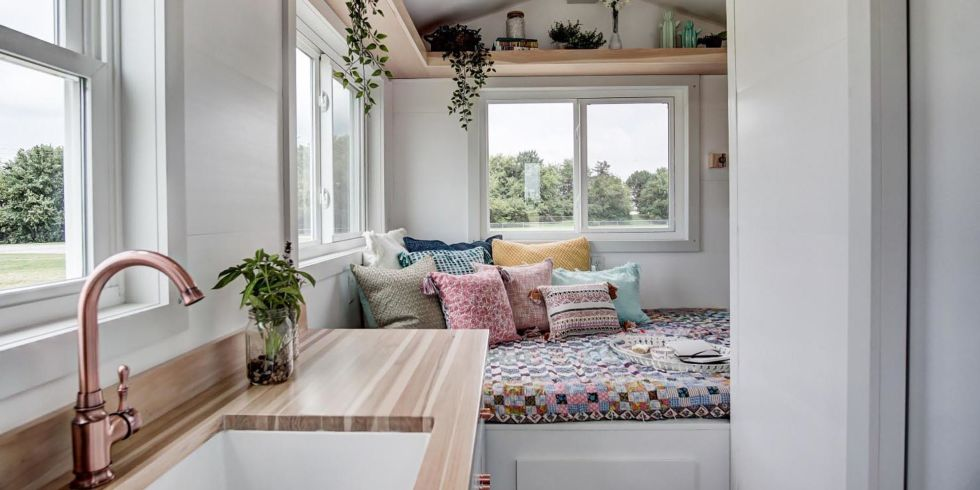 Modern Tiny House Inside take a peek inside this adorable 100 square foot tiny home