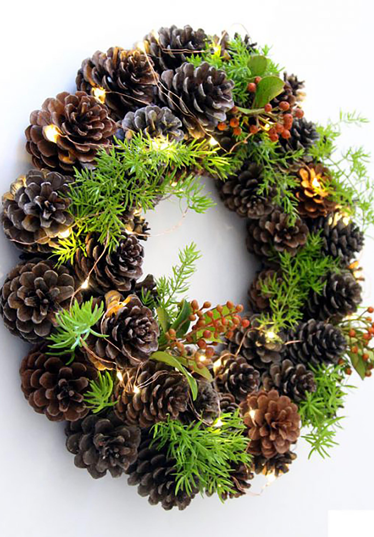 Diy winter wreaths for front door - Diy Winter Wreaths For Front Door 47