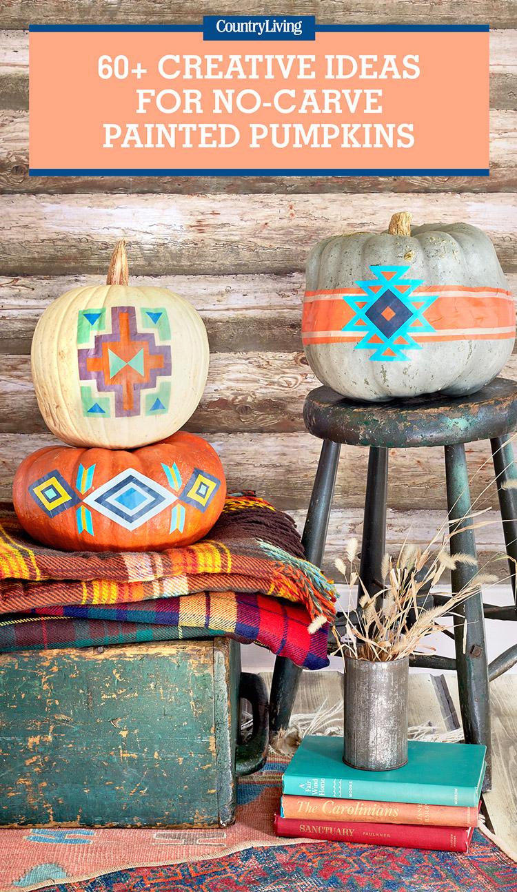 57 Easy Painted Pumpkins Ideas No Carve Halloween