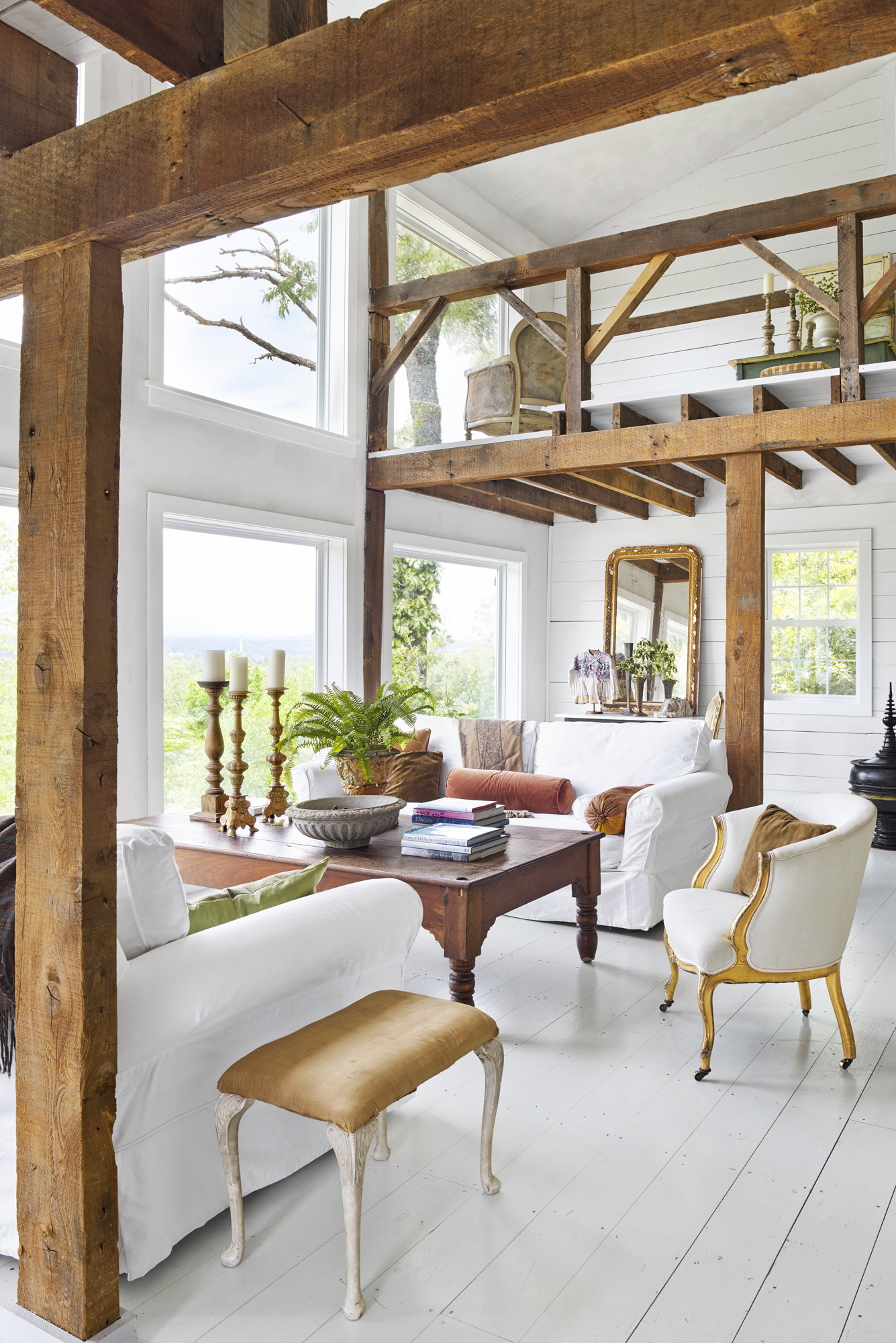 Inside a Beautiful Backyard Barn Turned Guest House