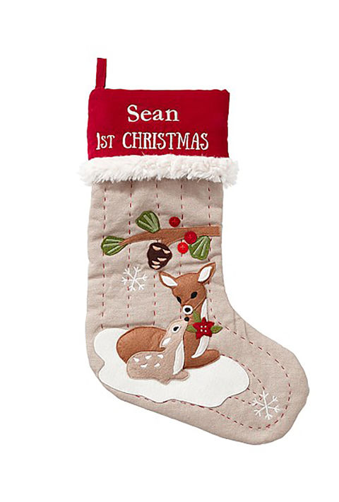 11 Baby S First Christmas Stockings Cute Ideas For