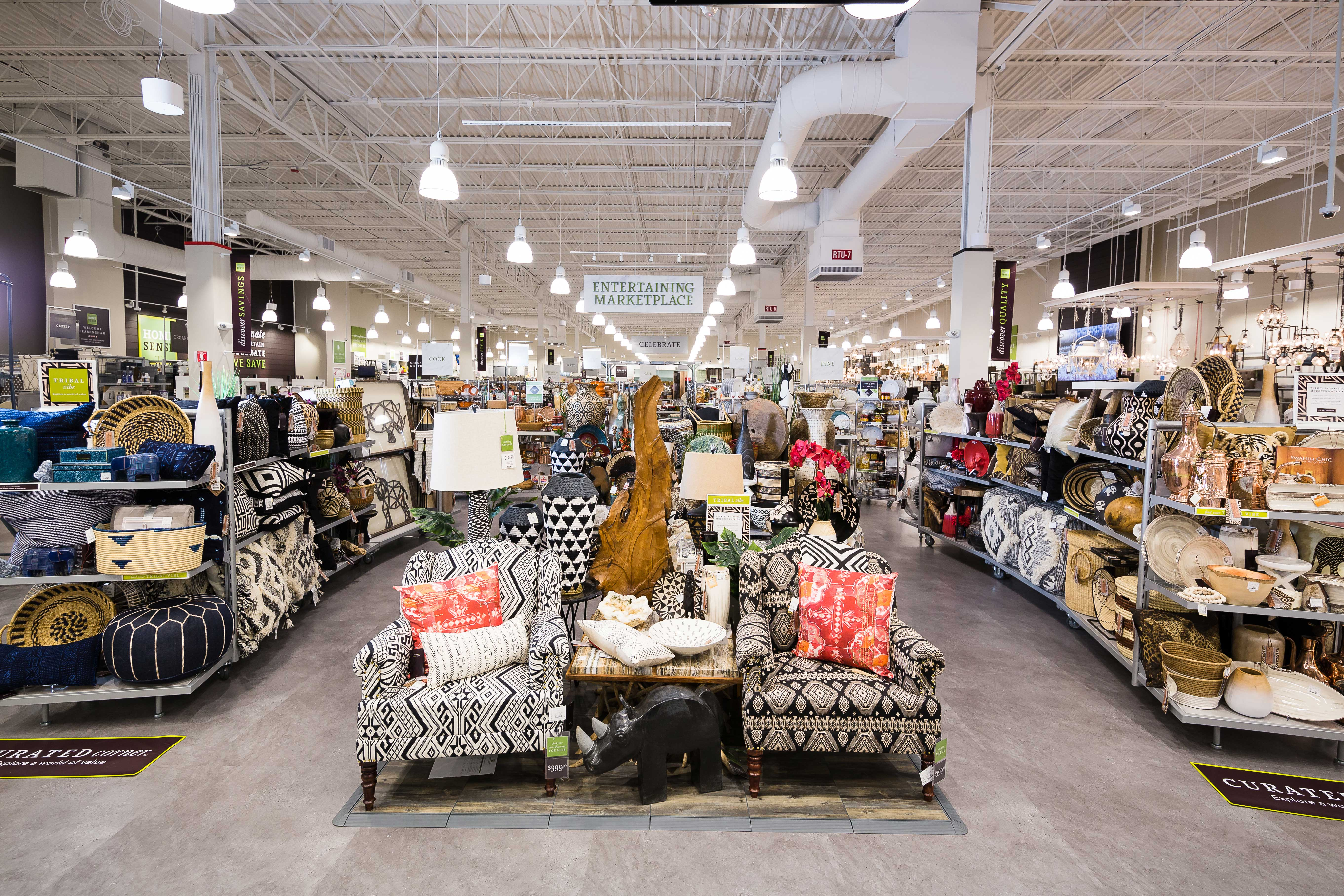 what to know before visiting homesense the new spinoff store from homegoods. Black Bedroom Furniture Sets. Home Design Ideas