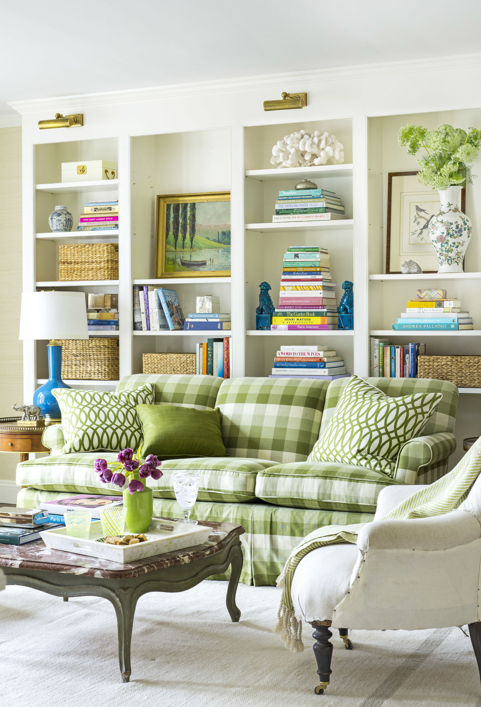green living room furniture.  Decorating with Green 43 Ideas for Rooms and Home Decor