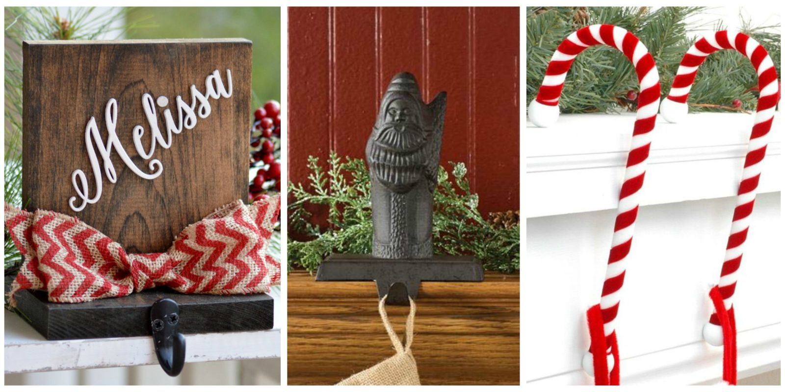 12 christmas stocking holders for mantel best stocking for Best stocking holders