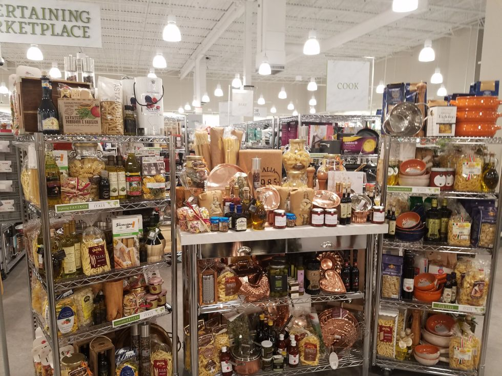 Just like in HomeGoods  plus sister stores Marshall s and TJ Maxx  there s  a decent section of dry goods on offer  You can stock up on jams  sauces. What to Know Before Visiting Homesense  the New Spinoff Store From