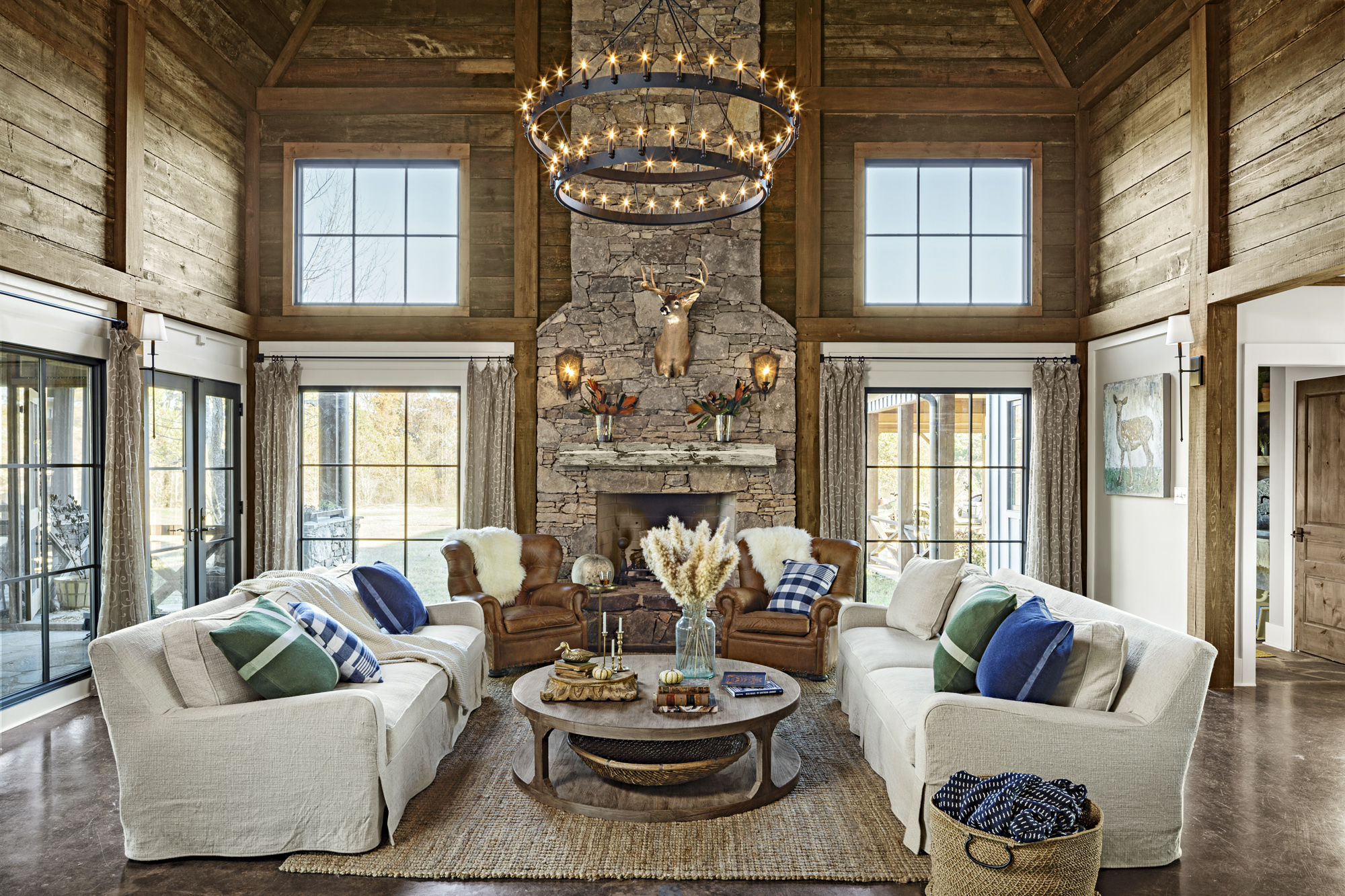 living room design ideas pertaining | Modern Mississippi Barn - Farmhouse Decorating Ideas